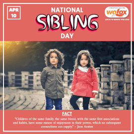 Online Editable National Siblings Day April 10 Instagram Post