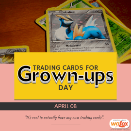 Online Editable Trading Cards For Grown-ups Day April 8 Instagram Post