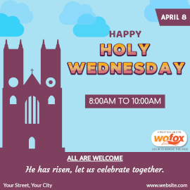 Online Editable Holy Wednesday Instagram Post
