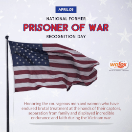 Online Editable National Former Prisoner of War Recognition Day April 9 Instagram Post