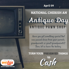 Online Editable National Cherish an Antique Day April 9 Instagram Post