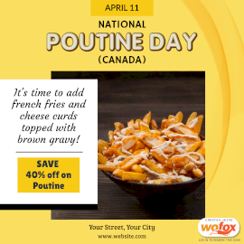 Online Editable National Poutine Day (Canada) April 11 Instagram Post