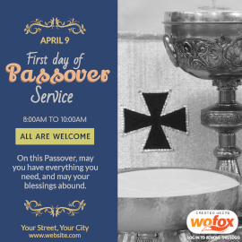 Online Editable First day of Passover Instagram Post