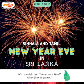 Online Editable Sinhala and Tamil New Year's Eve in Sri Lanka Instagram Post