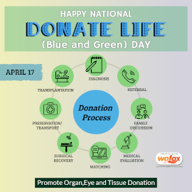 Online Editable National Donate Life Blue & Green Day Instagram Post