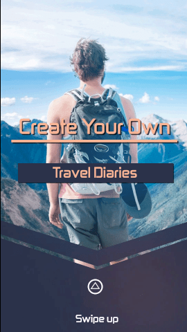 Online Editable Adventures Travel Diaries Instagram Story Video