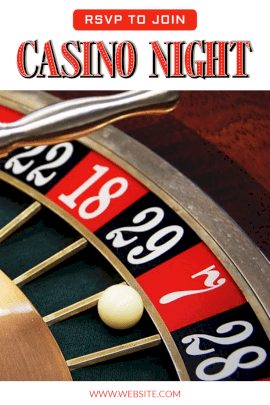 Online Editable Play on Casino Party Pinterest Graphic