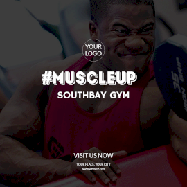Online Editable Built Your Muscle at Southbay Gym Instagram Post