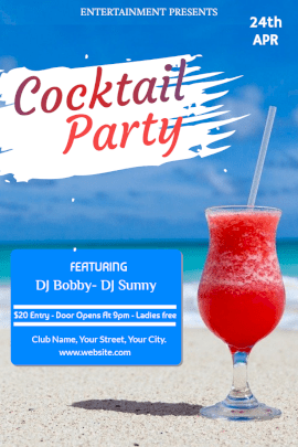 Online Editable Cocktail Party Invitation Pinterest Graphics