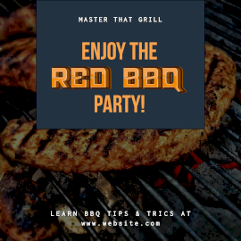 Online Editable Enjoy the Red BBQ Party Instagram Post
