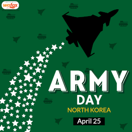 Online Editable Army Day in North Korea April 25 Instagram Post