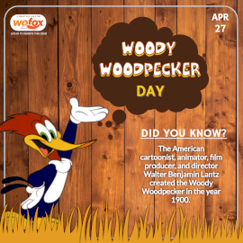 Online Editable Happy Woody Woodpecker Day April 27 Instagram Post