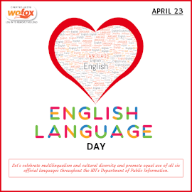 Online Editable English Language Day April 23 Instagram Post