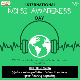 Online Editable International Noise Awareness Day Instagram Post