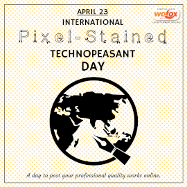 Online Editable International Pixel-Stained Technopeasant Day April 23 Instagram Post