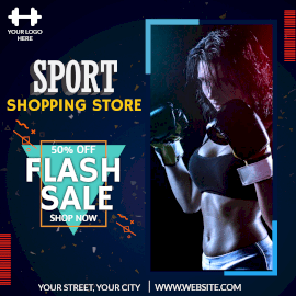 Online Editable Sports and Fitness Items Flash Sale Instagram Post
