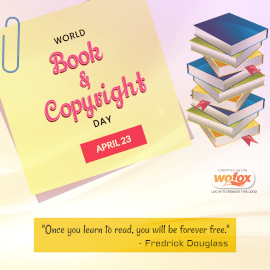 Online Editable World Book and Copyright Day April 23 Instagram Post