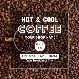 Online Editable Hot and Cool Coffee Instagram Post