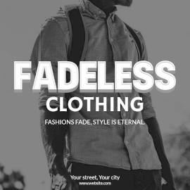 Online Editable Fashion and Style Fadeless Clothing Instagram Post