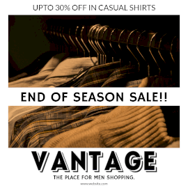 Online Editable Casual Shirts on Hangers Season Sale Instagram Post