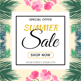 Online Editable Fashion Summer Sale Instagram Post