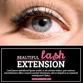 Online Editable Eyelash Extensions Salon Instagram Post