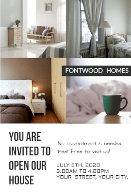 Online Editable Housewarming Invitation Pinterest Graphic