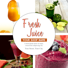 Online Editable Healthy Fresh Juice Instagram Post