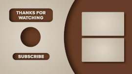 Online Editable Brown Thank You with Subscription YouTube End Screen Outro