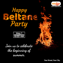Online Editable Happy Beltane Party May 1 Instagram Post