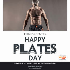 Online Editable Happy Pilates Day Instagram Post