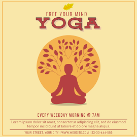 Online Editable Yoga For Inner Peace Instagram Post