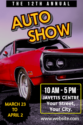 Online Editable Annual Auto Show Instagram Post