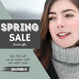 Online Editable Spring Sale Limited Offer Instagram Post