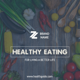 Online Editable Healthy Eating Instagram Post
