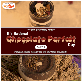 Online Editable National Chocolate Parfait Day May 1 Instagram Post