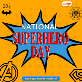 Online Editable National Superhero Day April 28 Instagram Post