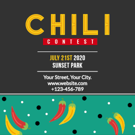 Online Editable Chilli Eating Contest Instagram Post