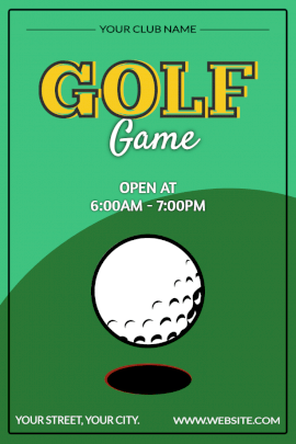 Online Editable Golf Game Pinterest Graphic
