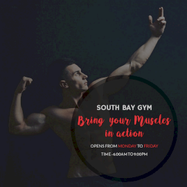 Online Editable Built Your Muscle South Bay Gym Instagram Post