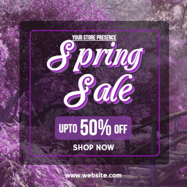 Online Editable Magenta Spring Sale Offer Instagram Post