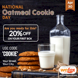 Online Editable National Oatmeal Cookie Day April 30 Instagram Post