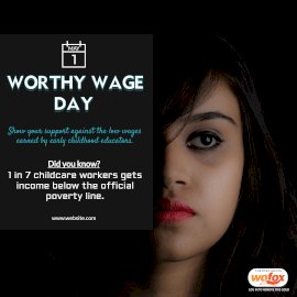 Online Editable Worthy Wage Day May 1 Instagram Post
