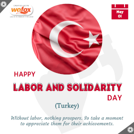 Online Editable Labor and Solidarity Day in Turkey May 1 Instagram Post