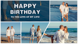 Online Editable Birthday Surprise for Girlfriend 4 Grid Photo Collage