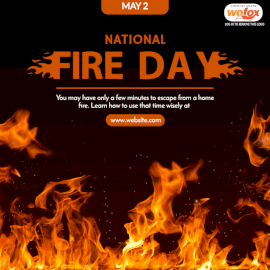 Online Editable National Fire Day May 2 Social Media Post