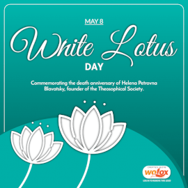 Online Editable White Lotus Day May 8 Social Media Post