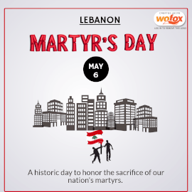 Online Editable Martyr's Day in Lebanon May 6 Instagram Post
