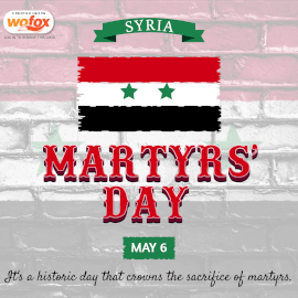 Online Editable Martyrs' Day in Syria May 6 Instagram Post