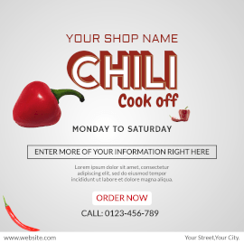 Online Editable Chili Cook-off Shop Instagram Post